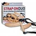 Strap-On Duo med Vibrator