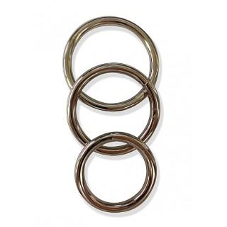 SPORTSHEETS - Metall penisring 3pk