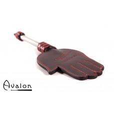 Avalon - GERAINT - Paddle med håndform og metallhåndtak med D-ring - Sort og rød